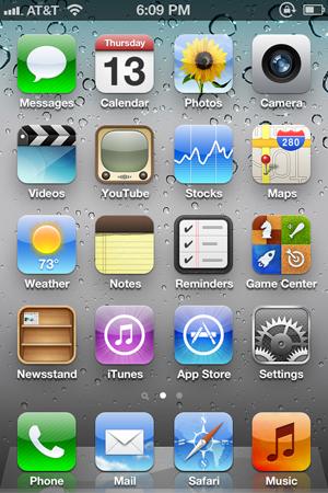 Главный экран iOS 5