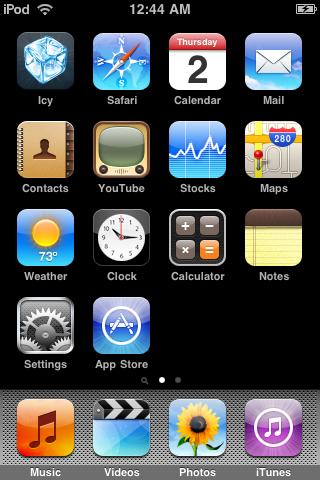 Главный экран iPhone OS 2