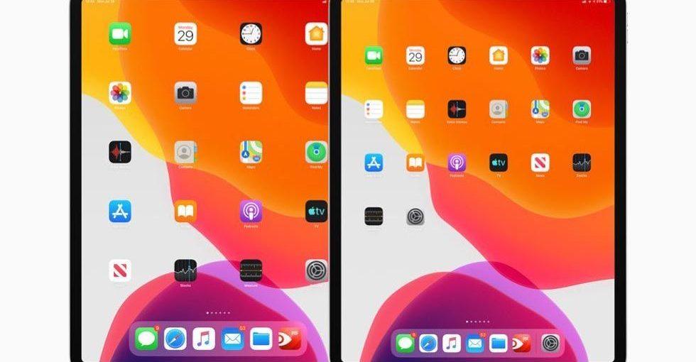 Размер иконок в iPadOS