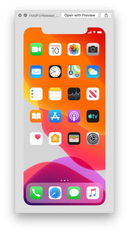 Домашний экран iPhone 2019
