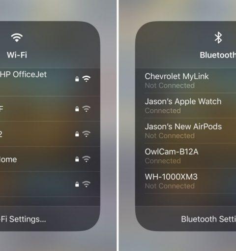 Быстрое подключение к Wi-Fi и Bluetooth в iOS 13