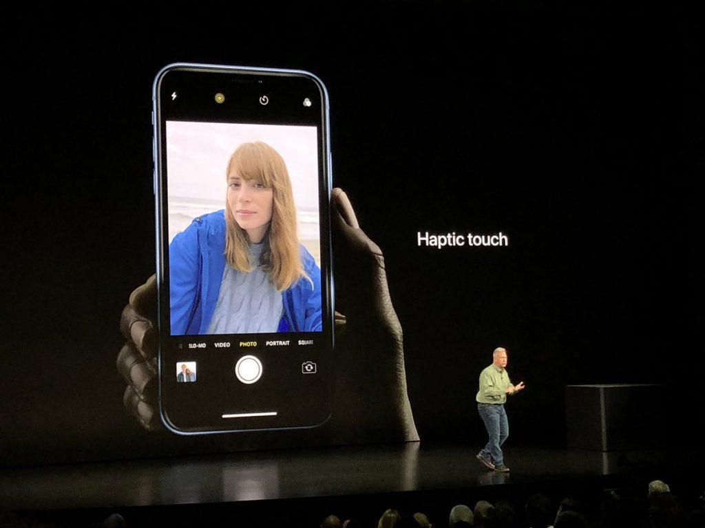 Haptic Touch в iPhone XR