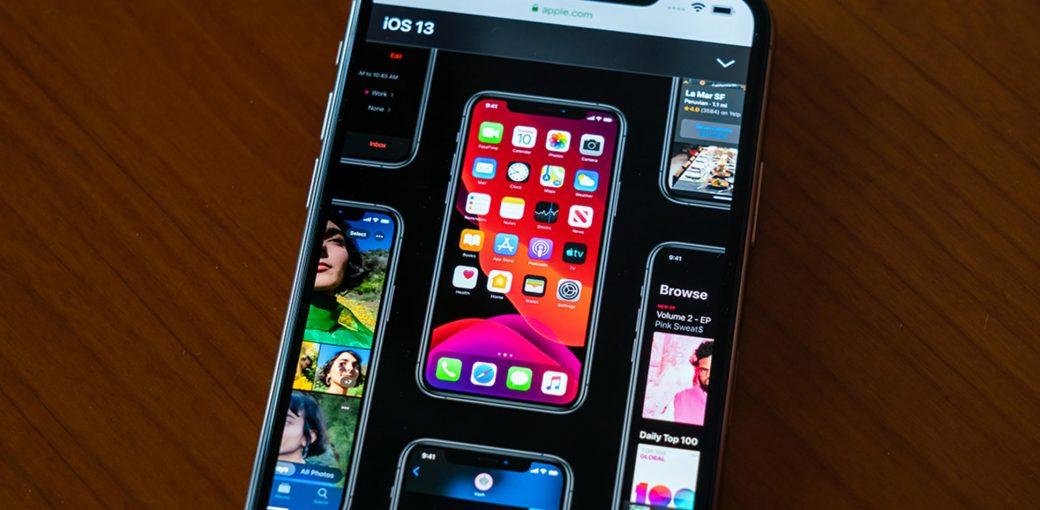 Сайт apple.com на iPhone
