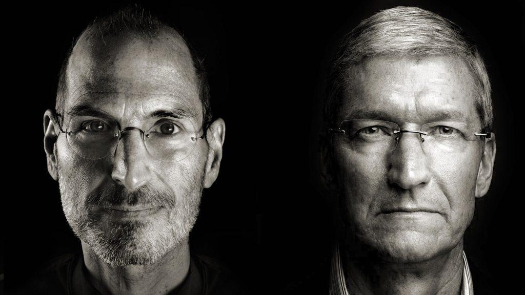Тим Кук и Стив Джобс