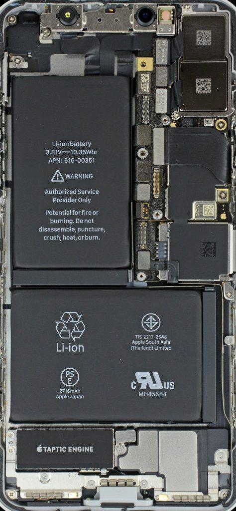 Внутренности iPhone X