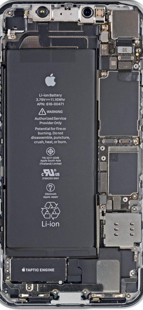 Внутренности iPhone XR