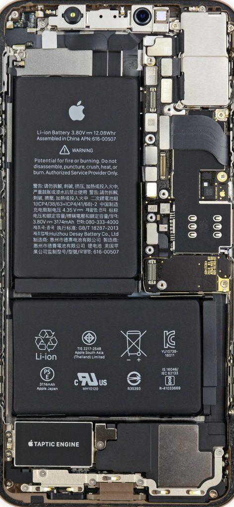 Внутренности iPhone XS Max