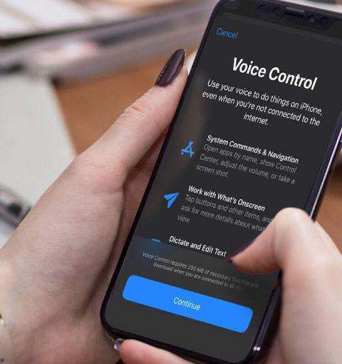 Управление голосом на iPhone на iOS 13
