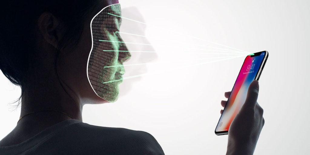 Работа Face ID на iPhone X