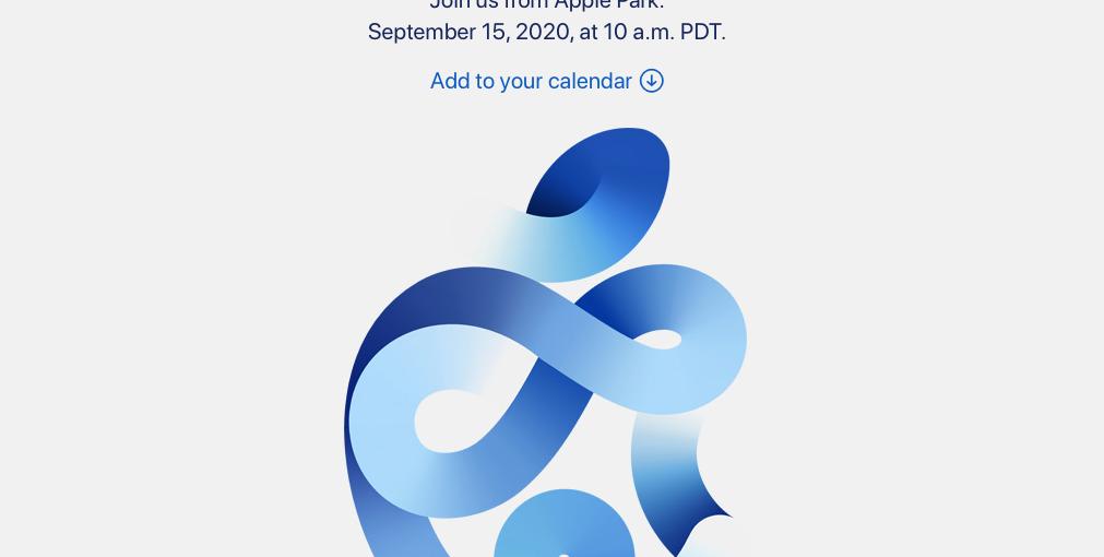 Приглашение на сентябрьскую презентацию Apple 2020