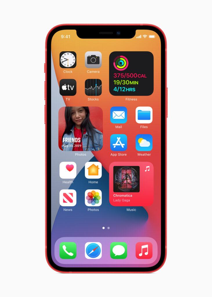 Главный экран iPhone 12