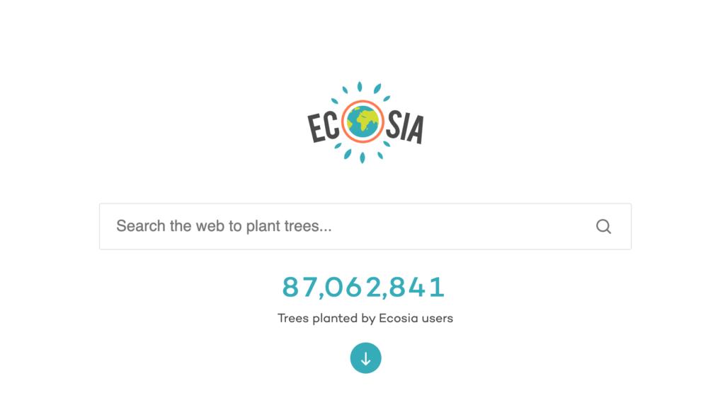 Поисковая система Ecosia