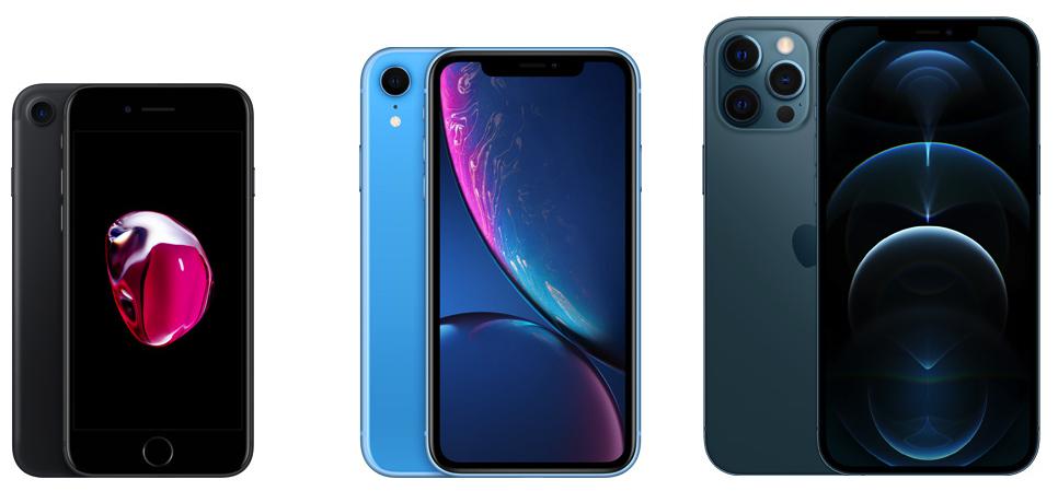 iPhone 7, iPhone XR и iPhone 12 Pro Max