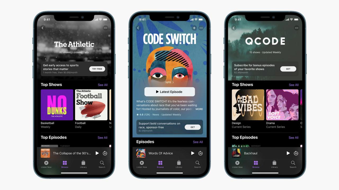 Обновленное приложение Подкасты в iOS 14.5