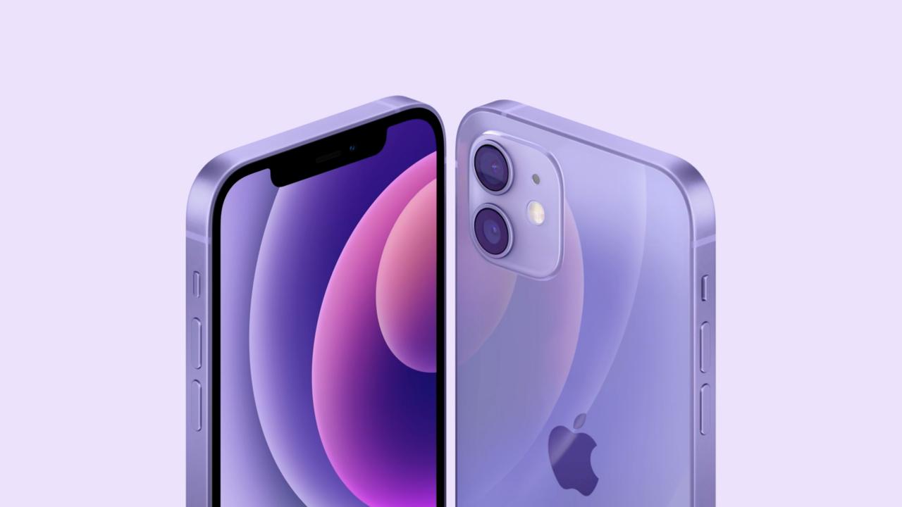 Фиолетовый iPhone 12 и 12 mini