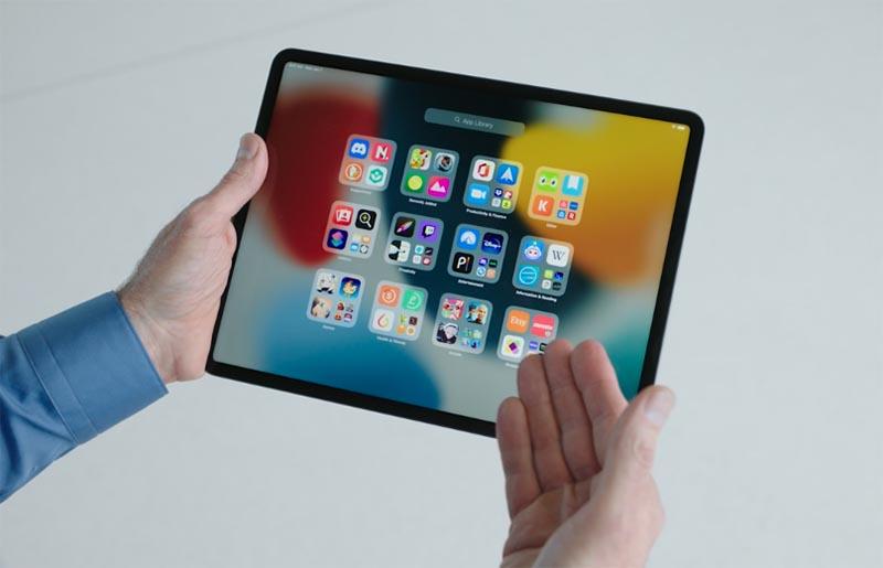 Библиотека приложений в iPadOS 15