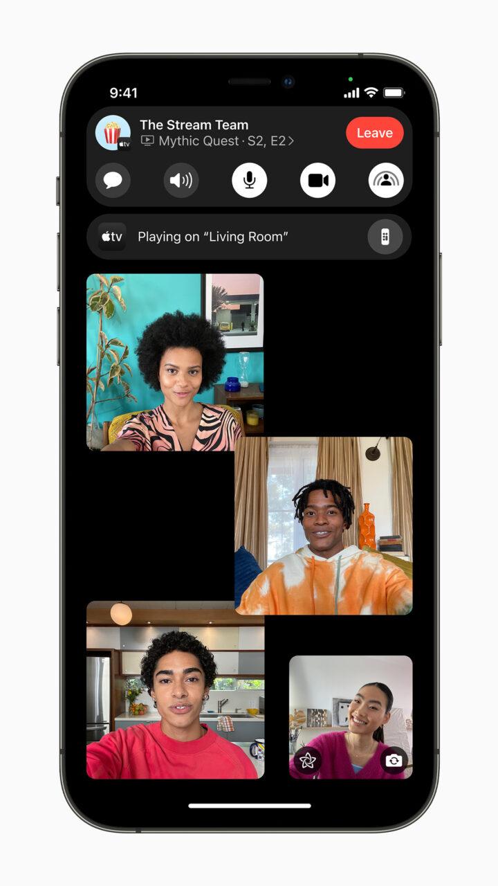 Функция SharePlay в iOS 15
