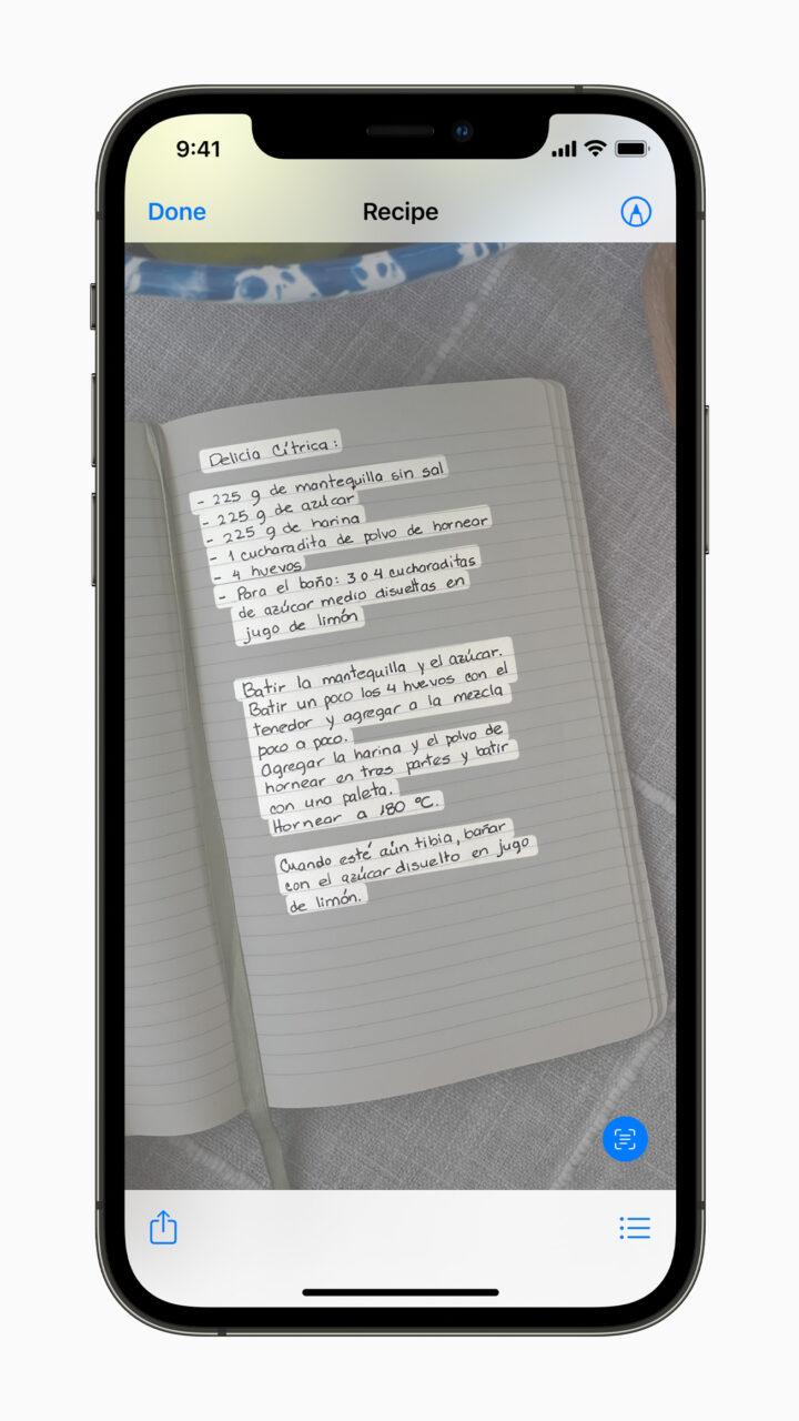Функция Онлайн-текст в iOS 15