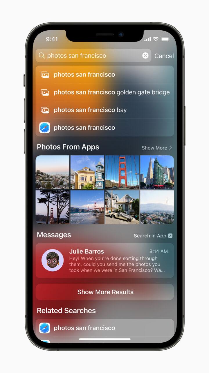 Spotlight в iOS 15