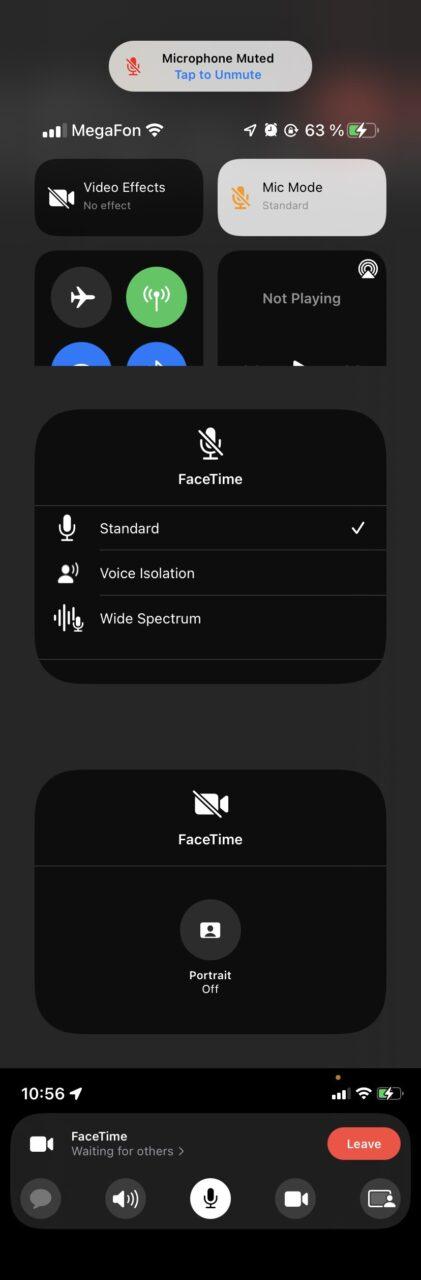 FaceTime в iOS 15