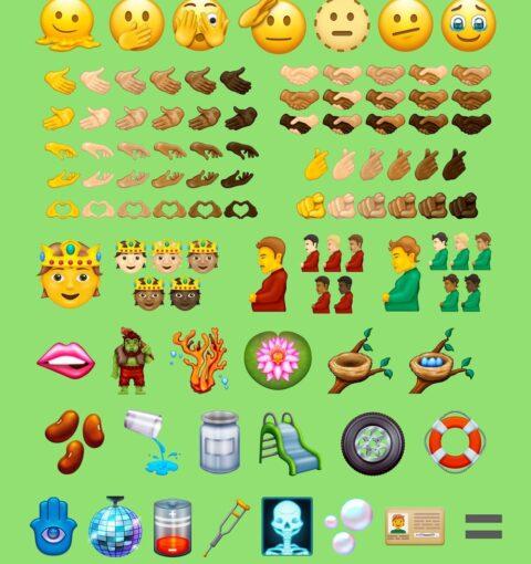 Эмодзи из Unicode 14.0