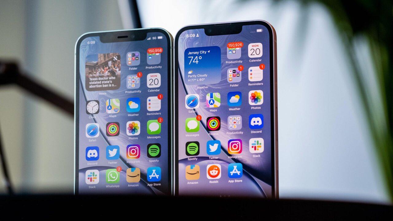 iPhone 13 и iPhone 12